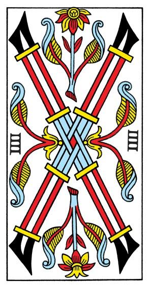 קלף ארבעה מטות בקלפים של מרסיי CBD