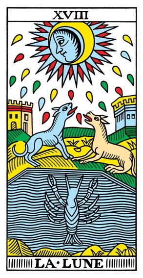 קלף הירח בסדרת הקלפים של מרסיי CBD
