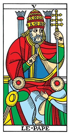 קלף הכהן הגדול בחפיסת מרסיי CBD