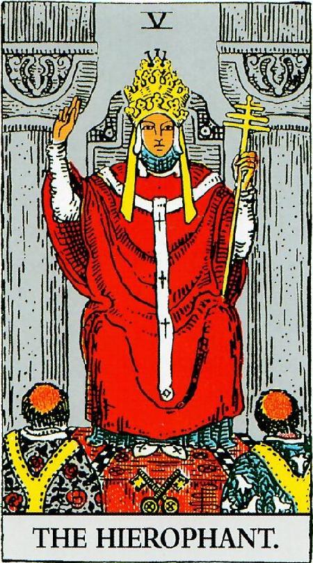 קלף הכהן הגדול בחפיסת ריידר