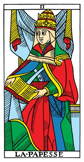 קלף הכוהנת הגדולה בקלפים של מרסיי CBD