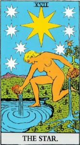 קלף הכוכב בקלפים של ריידר