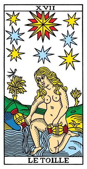 קלף הכוכב בקלפים של מרסיי CBD