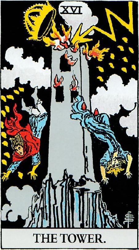 קלף המגדל בחפיסת הקלפים של ריידר