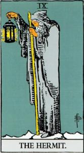 קלף הנזיר בחפיסת הקלפים של ריידר