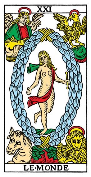 קלף העולם בקלפים של מרסיי CBD