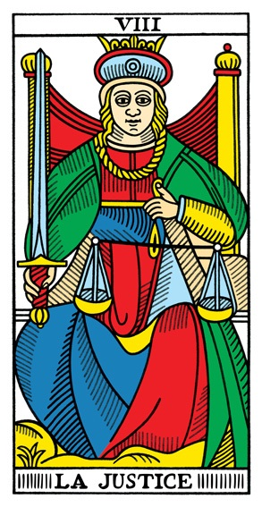קלף הצדק בחפיסת הקלפים של מרסיי CBD
