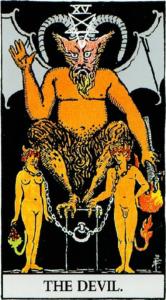 קלף השטן בחבילת קלפי ריידר