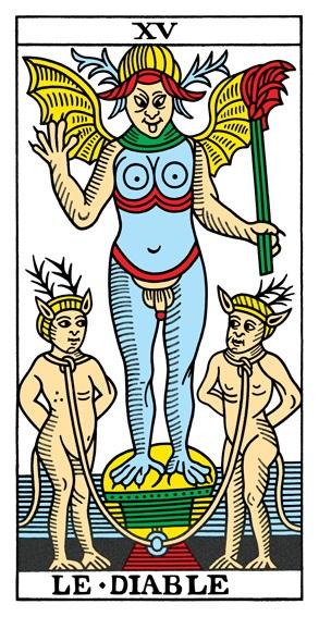 קלף השטן בחפיסת הקלפים מרסיי CBD