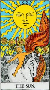 קלף השמש בסדרת הקלפים של ריידר