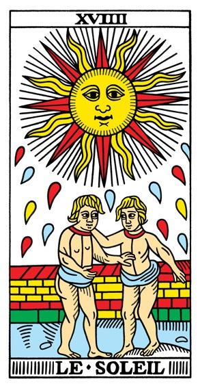 קלף השמש בסדר הקלפים של מרסיי CBD