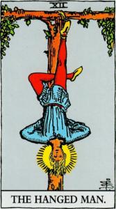 קלף התלוי בחפיסת הקלפים של ריידר