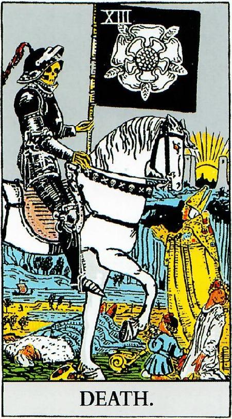 קלף המוות בסדרת הקלפים של ריידר