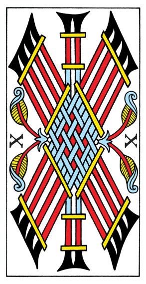קלף עשרה מטות בקלפים של מרסיי CBD