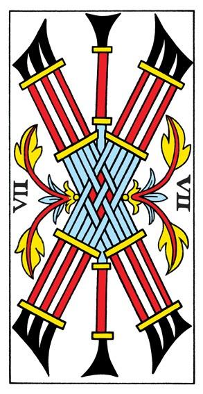 קלף שבעה מטות בקלפים של מרסיי CBD