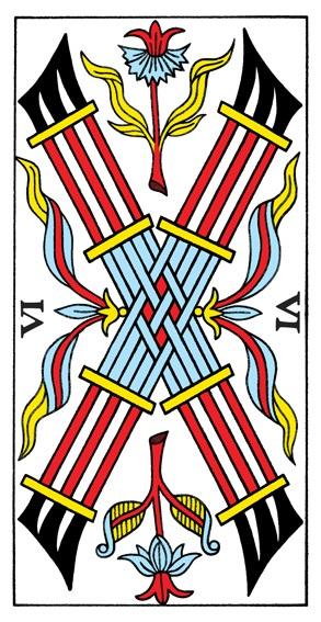 קלף שישה מטות בקלפים של מרסיי CBD