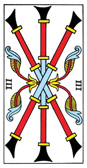 קלף שלושה מטות בקלפים של מרסיי CBD