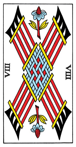 קלף שמונה מטות בקלפים של מרסיי CBD