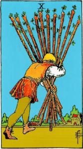 קלף עשרה מטות בקלפים של ריידר