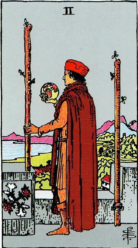 קלף שני מטות בקלפים של ריידר