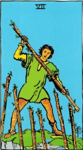 קלף שבעה מטות בקלפים של ריידר