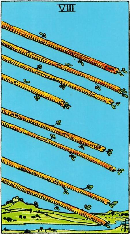 קלף שמונה מטות בקלפים של ריידר