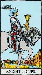 קלף אביר הגביעים בקלפים של ריידר