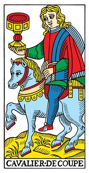 קלף אביר הגביעים בקלפים של מרסיי CBD
