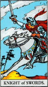 קלף אביר החרבות בקלפים של ריידר