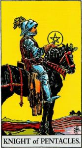 קלף אביר המטבעות בקלפים של ריידר