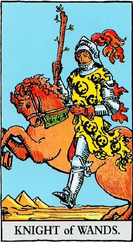קלף אביר המטות בקלפים של ריידר