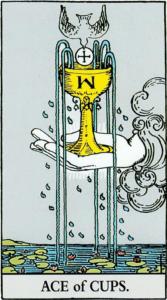 קלף אס הגביעים בקלפים של ריידר