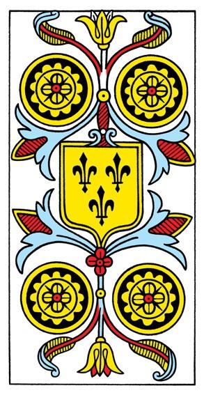 קלף ארבעה מטבעות בקלפים של מרסיי CBD