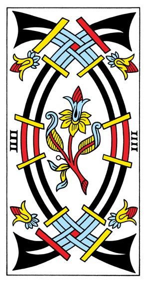 קלף ארבע חרבות בקלפים של מרסיי CBD