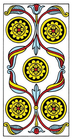 קלף חמישה מטבעות בקלפים של מרסיי CBD