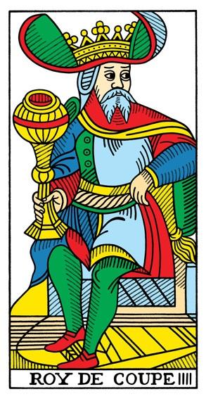קלף מלך הגביעים בקלפים של מרסיי CBD