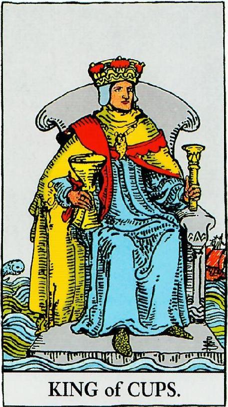 קלף מלך הגביעים בקלפים של ריידר