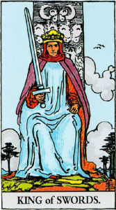 קלף מלך החרבות בקלפים של ריידר