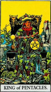 קלף מלך המטבעות בקלפים של ריידר
