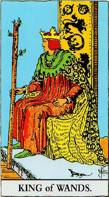 קלף מלך המטות בקלפים של ריידר