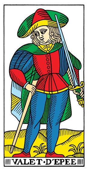 קלף נסיך החרבות בקלפים של מרסיי CBD