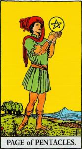 קלף נסיך המטבעות בקלפים של ריידר