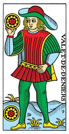 קלף נסיך המטבעות בקלפים של מרסיי CBD