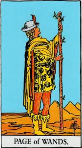 קלף נסיך המטות בקלפים של ריידר