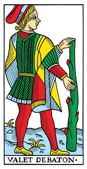 קלף נסיך המטות בקלפים של מרסיי CBD