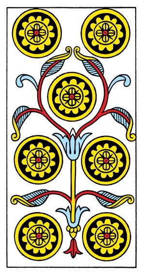 קלף שבעה מטבעות בקלפים של מרסיי CBD