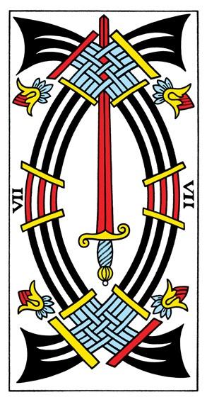 קלף שבע חרבות בקלפים של מרסיי CBD