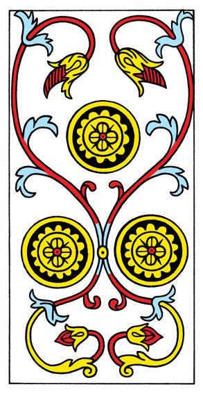 קלף שלושה מטבעות בקלפים של מרסיי CBD