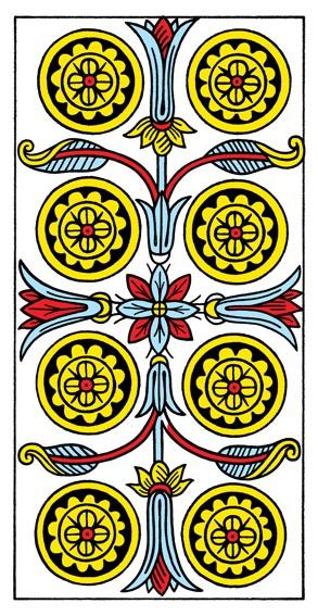 קלף שמונה מטבעות בקלפים של מרסיי CBD