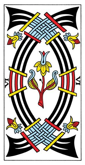 קלף שש חרבות בקלפים של מרסיי CBD